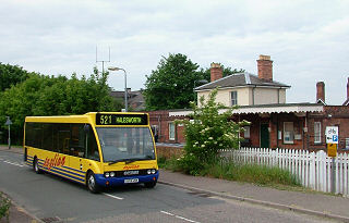 The 521 Bus at Halesworth Railway Staion