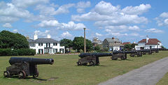 The Guns on Southwold's Gun Hill.