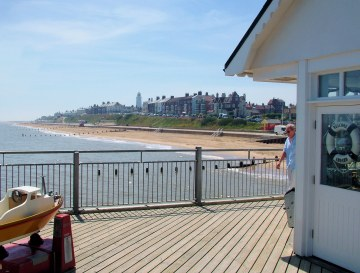 A view of Southwold from the Pier.