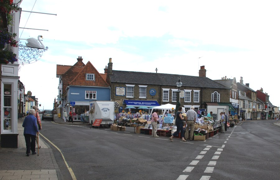 Southwold still holds a traditional town market