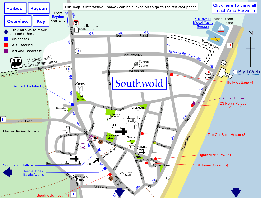 Southwold Town Map (north)